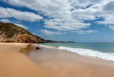 Beautiful beach Praia das Furnas royalty free stock images