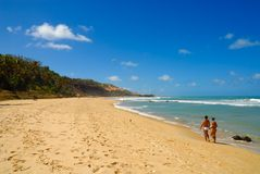Beautiful beach at Praia do Amor near Pipa Brazil Stock Image