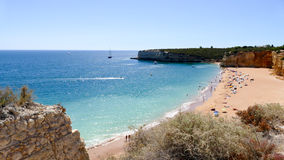 Beautiful beach Praia Nova in Portugal, Algarve Stock Photos