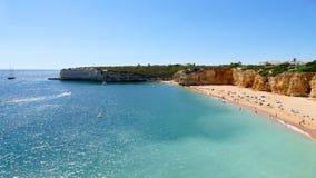Beautiful beach Praia Nova in Portugal, Algarve Royalty Free Stock Image