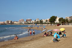 Beautiful beach in Puerto de Mazarron. Spain Stock Photos