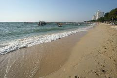 beautiful beach and relaxion at pattaya cholburi province thailand royalty free stock photo