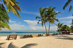Beautiful beach resort at Bantayan Island, Cebu Stock Images