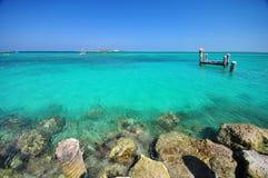 Beautiful beach at bahamas Stock Image