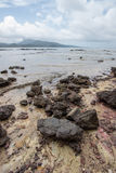 Beautiful beach and rocks on the way to Laem Chamuk Khwai in Khao Thong,Mueang Krabi District,Krabi province,southern Thailand. Stock Photography