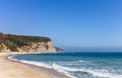 Beautiful beach and rocky seashore Stock Photography