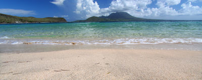 Beautiful beach on Saint Kitts Stock Images