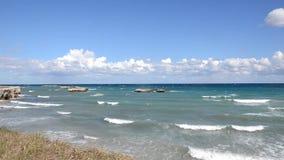 Beautiful beach of San Foca stock video