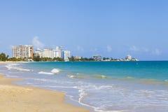 Beautiful beach in San Juan. Puerto Rico Stock Photos