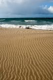 Beautiful beach sand shap Royalty Free Stock Images