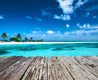 Beautiful beach with sandspit at Maldives Royalty Free Stock Images