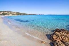 Beautiful beach on Sardegna island, Italy. Famous Marmolata beach on Sardegna island, Italy stock photos