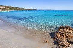 Beautiful beach on Sardegna island, Italy. Famous Marmolata beach on Sardegna island, Italy royalty free stock photos