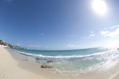 Beautiful Beach Scene Stock Image