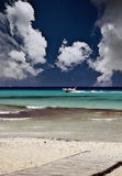 Beautiful beach scene Royalty Free Stock Photos