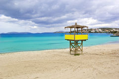 Beautiful Beach Scene. Beautiful Beach in Izmir,Turkey Stock Image