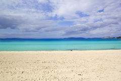 Beautiful Beach Scene. Beautiful Beach in Izmir,Turkey Royalty Free Stock Photography