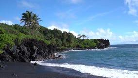 Beach Scene in Maui Hawaii. Beautiful Beach Scene in Maui Hawaii stock footage