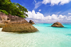 Beautiful beach scenery of Similan Islands Stock Photography