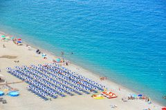 Beautiful beach in Scilla, southern Italy, Calabria region Stock Photos