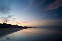 Beautiful beach in Scotland. Beautiful beach at sunset in Aberdeen, Scotland Royalty Free Stock Images