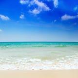 Beautiful beach and sea Royalty Free Stock Photography