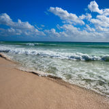Beautiful beach and sea Stock Images
