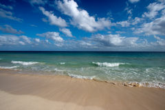 Beautiful beach and sea stock image