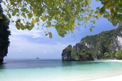 Beautiful beach , sea and blue sky at Andaman ocean in Southern Thailand. Royalty Free Stock Photos