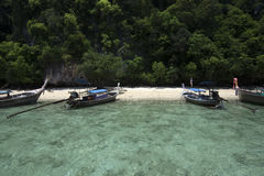 Beautiful beach , sea and blue sky at Andaman ocean in Southern Thailand. Stock Photography