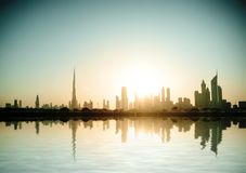 Beautiful beach and sea in  Dubai Royalty Free Stock Image