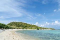 Beautiful beach and sea in sattahip thailand Stock Photography