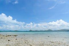 Beautiful beach and sea in sattahip thailand Royalty Free Stock Photos