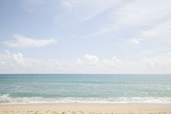 Beautiful beach sea and sky and tropical sea. Beautiful beach sea and sky and tropical sea Royalty Free Stock Images