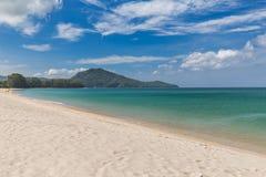 Beautiful Beach and Sea Wave Foam on Coast in Phuket , Thailand Stock Photography