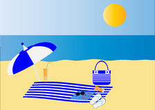 Beautiful beach / seaside accessories Stock Photography