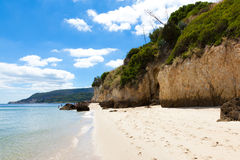 Beautiful beach of Setubal near Lisbon Portugal Royalty Free Stock Photo