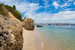 Beautiful beach of Setubal near Lisbon Portugal Royalty Free Stock Photos