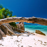 Beautiful beach at Seychelles Royalty Free Stock Images