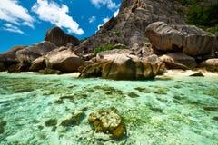 Beautiful beach at Seychelles stock image