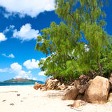 Beautiful beach at Seychelles Stock Photos