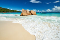 Beautiful beach at Seychelles Stock Image