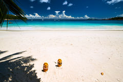 Beautiful beach at Seychelles Royalty Free Stock Photos
