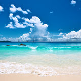 Beautiful beach at Seychelles Stock Photography
