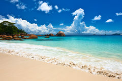 Beautiful beach at Seychelles Stock Photo