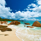 Beautiful beach at Seychelles Royalty Free Stock Image