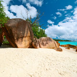 Beautiful beach at Seychelles Royalty Free Stock Photos