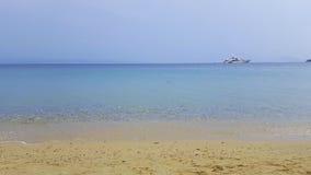 Beautiful beach on Skiathos island in Greece, summer day Royalty Free Stock Photos