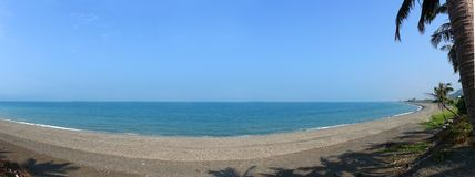 Beautiful Beach and Sky Panorama Stock Photography