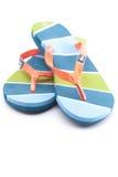 Beautiful beach slippers royalty free stock photos